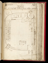 Plan of Tutbury Castle, Staffordshire f. 174